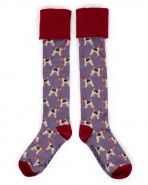 Powder Fox Terrier Knee Boot Socks