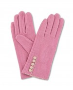 Powder Clemintine Wool Gloves Pink
