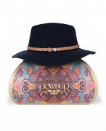 Powder Katie Wool Fedora Hat Navy