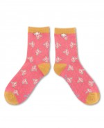 Powder Bamboo Rosebud Ankle Socks Berry