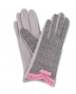 Powder Victoria Wool Gloves Pink