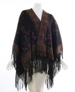 Alpaca Ruana Reversible Cape Brown & Black