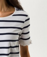 Brax Cora T-Shirt Navy Stripe
