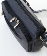 Nova Leather Shoulder Handbag Navy Style - 900
