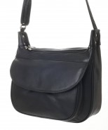 Nova Leather Shoulder Handbag Black - 916