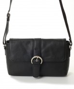 Nova Leather Shoulder Handbag Black Style - 940