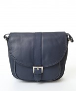Nova Leather Satchel Handbag Navy Style-998