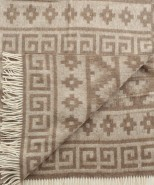 Alpaca & Wool Blanket / Throw Beige Print