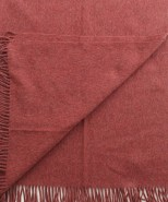 Alpaca & Wool Blanket / Throw Red