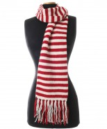The Alpaca Collection Stripey Scarf red