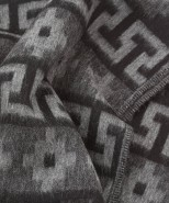 alpaca blanket/throw black aztec