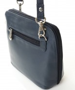 Nova Leather Cross-Body Handbag Navy Style- 0559