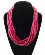 Dante Necklace Wooden Beads Pink