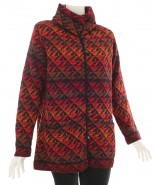 The Alpaca Collection Bright Red Alpaca Lined Cardigan