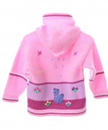 Childrens Applique Cardigan Pink
