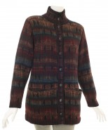 The Alpaca Collection Lined Cardigan Multi Black Aruba