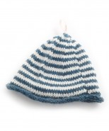 Alpaca Baby Beanie Knitting Kit Teal Blue