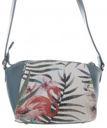 David Jones Tropical Crossbody Bag Blue