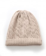 Alpaca Cable Beanie Hat Beige