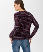 Brax Bette Zipped Cardigan Berry & Navy