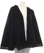 Alpaca & Pima Cotton Cape Black