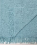 Alpaca Boucle Blanket/Throw Sky Blue