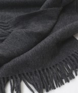 Alpaca Blanket/Throw Charcoal