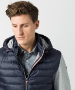 Brax Chester Jersey Sleeve Hooded Jacket Navy