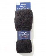 House of Cheviot Mens Alpaca Knee Socks Navy Mix