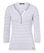 Brax Claire 3/4 Sleeve T-Shirt Grey Stripe