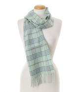 Baby Alpaca Scottish Woven Scarf Jade Green