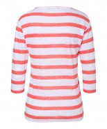 Brax Collene Linen Stripe Top Papaya