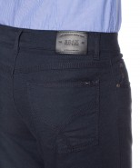 Brax Cooper Wool Look Trousers Navy