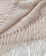 Alpaca Boucle Blanket/Throw Natural