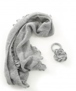 Alpaca Clothing Co Curly Edge Scarf Light Grey