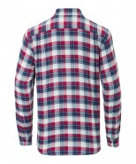 Brax Dries Checked Cotton Shirt Navy & Red