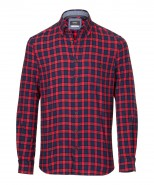 Brax Shirt Dries Red & Navy Check