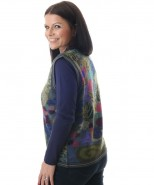 The Alpaca Collection Fern Waiscoat Navy & Green Print