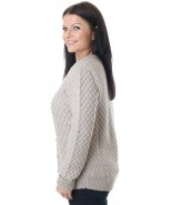 The Alpaca Collection Flora Cardigan Oatmeal
