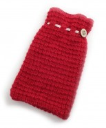 Alpaca Hot Water Bottle Cover Red