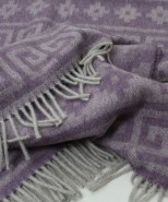 Alpaca & Wool Blanket/Throw Lilac Print