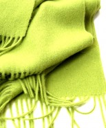 Alpaca Blanket / Throw Lime Green