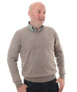 The Alpaca Collection Marcus V Neck Jumper Oatmeal