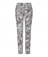 Brax Mary Trousers Slim Straight Leg Floral Grey