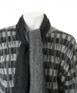 Alpaca knitted scarf grey/charcoal