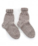 Alpaca Bed Socks Knitting Kit Mocha Brown