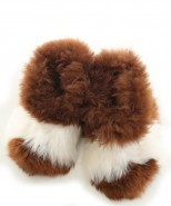 Alpaca Slippers Adult Multi White & Tan