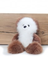 Alpaca Teddy Bear White & Brown Medium