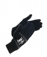 Alpaca Gloves Motif Black