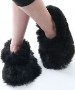 Alpaca Slippers Adult Black